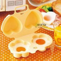 love flower shape microwave steamed egg mold Omelette box For Fried eggs