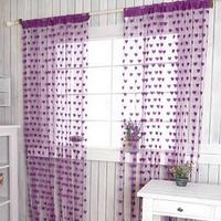 Heart Line String Door Curtain Tassel Window Room Curtain Divider Scarf Free Drop Shipping