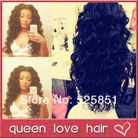 Free shipping! Brazilian virgin human hair body wave u part wig for black women 130%-150% density natural black color in stock.