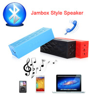 Boombox Speaker Jambox Style Mini Bluetooh Speakers Wireless Rechargeable Handsfree with Mic for iphone 5s Samsung iPod iPad Car