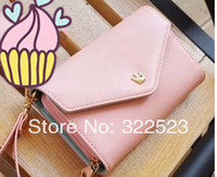 Ms Wallet Phones Bag Lady's Hand Bag Zero Purse Crown Wallet Phone Bag For S4 free shipping
