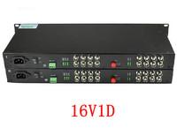 Premium quality 1pair 16 channel digital video/Audio/data fiber optic media converter, 16v1d, RS485, up 25KM, Anti-lightning!
