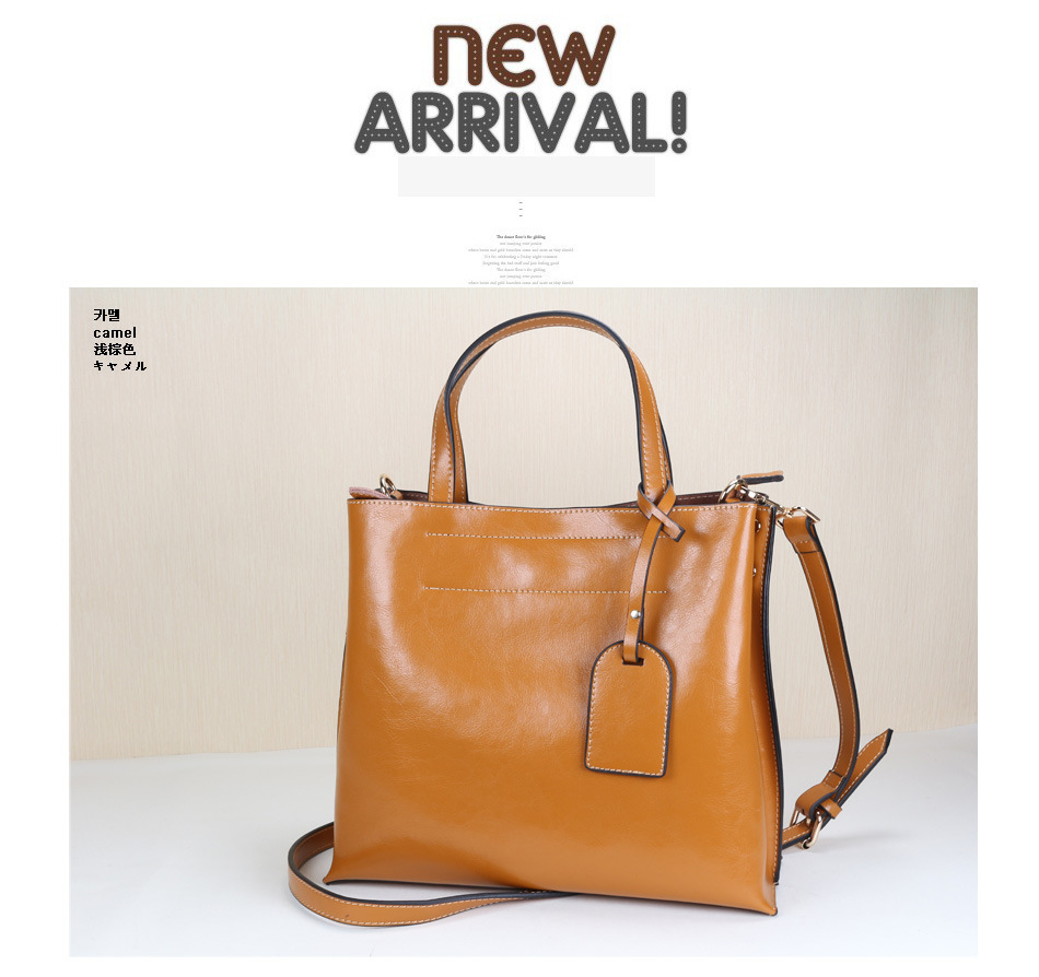 Factory price 2014 luxury handbags women bags designer popular genuine leather office one shoulder tote bag manufacturer(China (Mainland))