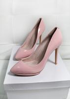 Spring love creatjoy2014 japanned leather cowhide pointed toe high-heeled shoes ladies gentlewomen