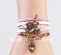 Wholesale personalized Love heart Charm friendship bracelet