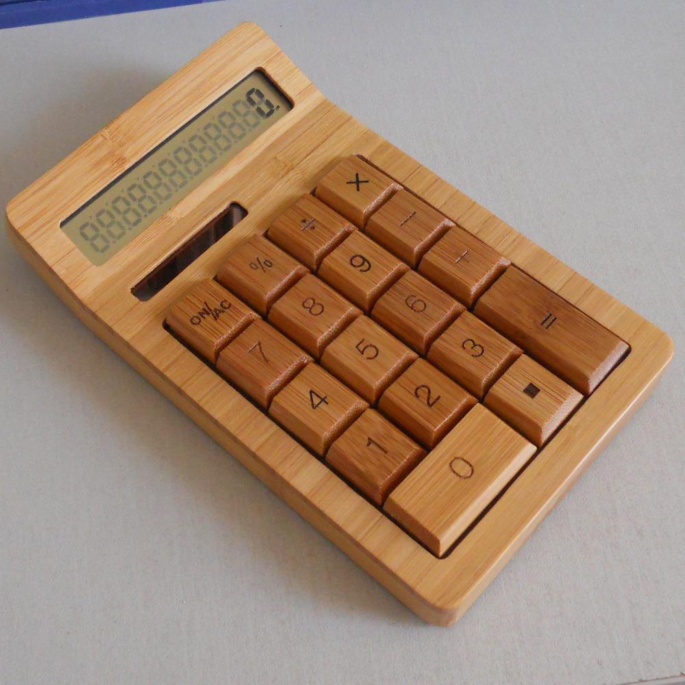 12-digitals-Solar-power-Bamboo-Solar-Calculator-Anti-static-cell-no ...