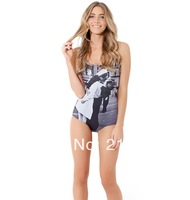 new 2014 European American printing digital printing swimwear one piece swimsuit outdoor fun & sports sexy one piece swim suits