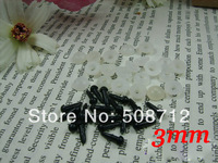 fress ship!!!100 pairs 3 mm black Safety Eyes suitable for Amigurumi /plastic toy eyes