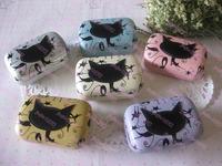 Popular design Cartoon contact lenses box mate box cat lenses companion box water box  10pcs Free shipping
