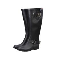 2014 spring and autumn fashion high design long zipper fashion waterproof boots female shoes rain boots fashion female