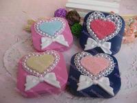 Free shipping wholesale 10pcs/lot Diy contact lenses box handmade contact lenses box mate box love bow fashion honey box