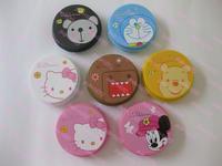 Popular design Cartoon contact lenses box mate box contact lenses companion box classic circle 7  10pcs Free shipping