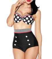 Free Shipping 2014 Latest Fashion High Waist Do Bikini Swimwear