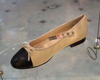 Color block decoration comfortable soft surface c sheepskin shoes ballet flat shoes  shoes for women