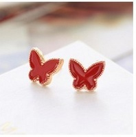 B191 fashion drip red/white/black butterfly earrings women jewelry wholesale free shipping