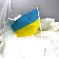 flag national ukraine 14 21CM  for office car home petite drapeau de l Ukraine nylon OLYMPIQUE POUR VOITURES BUREAU