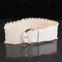 Black lace skirt decoration cummerbund belt white female fashion all-match elastic wide belt y193
