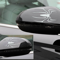 2014 Free Shipping Size 6.8*7.6 CM  New 3D Spider Decal Car Sticker  100 packs =200pcs spiders  DHL to US & UK ...Wholesale !