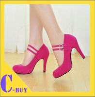 Big size wholesale spring 4 colors fashion Party platform high heels pumps women shoes
