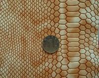 2015 New Fashion imitation leather fabric waterproof Synthetic shinning snake skin fabric snake skin for handbag material