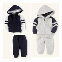 2014 Hot Sale children 2pcs/set Kids Baby Polo Suit Boys Girls Long Sleeve Shirt + Pant Sport Clothes Hoodies Children Clothing