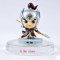 Three kingdoms Cartoon figure resin Home Decor Birthday gift car Crafts manual coloured drawing pattern general model