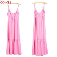 Bohemian Boho Sling Ombre Paisley Smocked Summer Sun Dress maxi dress