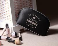 Free Shipping Fashion Cosmetic Bag Zipper vs Make Up Storage Bags Organizer black