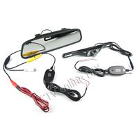 "Wireless 4.3"" LCD Car Rear View Rearview DVD Mirror Monitor + IR Backup Camera System Kits"