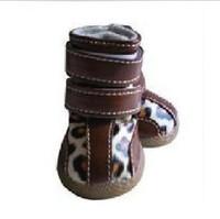Dog shoes fashion rainproof wear-resistant cow muscle slip-resistant outsole shoes pet shoes