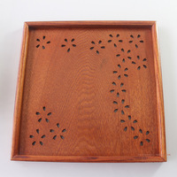 New 2014 Dark color rustic wooden pallet dish wooden pallet square-fashion trenchantly cutout PD036