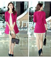 2013 autumn women's fashion slim medium-long plus size clothing style trench