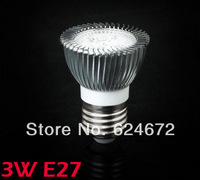 (5 pieces/lot )3W E27 AC85~265V white/warm white LED Bulb Light Spot Light LED Light Lamp
