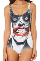 RESUN KNITTED 2014 digital print fashion the Red-billed devil sexy one-piece swimsuit Black Milk Swimwear ,Promotion
