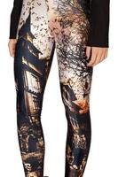 RESUN KNITTING Haunted House 2.0 Leggings - LIMITED 2014 digital print fashion digital sexy legging HOT SELLING