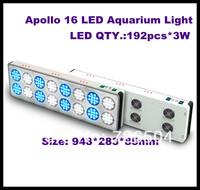 2pcs/lot free shipping Apollo 16 Led aquarium light/576W(192*3W) Apollo 16 Led tank light
