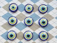 free shipping 100pcs 18mm Nazar eye beads Evil Eye Beads Cat Eye Beads Turkish blue Eye