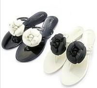 Women's Sandals 2014 Summer Beach Lady Cross Flower slipper sandal flip flops flat base flat heel shoes