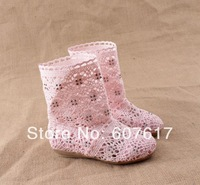 Fashion 2014 children boots knitted cutout boots children boots princess boots super soft cow muscle outsole