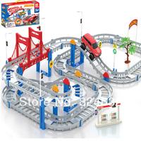 Electric rail car child train toy thomas train track set toy thomas train 2 layers with 1 car  children toy