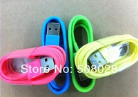 original quality and packing colorful iOS 7.1.0 1M 8 pin Data Sync USB For iPhone 5 5s 5c for ipad air.20pcs/lot