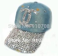2014 Denim Baseball CapsKorean Style Fashion Geometric Casual Hats, Denim Blue Water Washed Baseball Caps For Women female hats