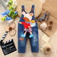 Stylish New StuABC pattern Jeans Overall can open files pants Baby Coveralls Rompers For 1-3 Years old Baby