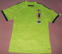 2014 Japan away Fluorescent color soccer jerseys #18 Honda designer football uniforms  branded sports t-shirts