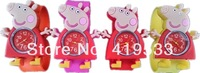 2014Hot sale free shipping 5pcs/lot Peppa Pig  Cartoon slap watch,children watch, best gift for kids,have in stock