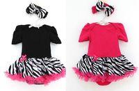 2pcs Infant Baby Girls Headband+bodysuit Jumpsuit set Tutu Dress Clothes Outfits