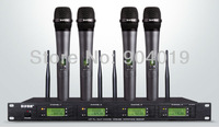 4 Channel UHF Handheld Wireless Microphone Mic System DF-8160