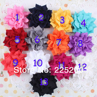 3inch Fabric Flowers With Starburst Button Fabric Flowers DIY Photography props Baby Headbands Flower For Hair Accessories