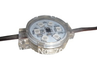 20pcs DC24V  UCS1903 pixel module with transparent cover with lens;6pcs 5050 led inside;1.44W;40mm diameter