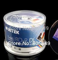 freeship BD-R 50G 50 PCS/Pack - RITEK BD-R 1-6X 50GB BDR Disc  Printable Blue-ray BD-R  Blank disc 100% genuine Ritek (Taiwan)